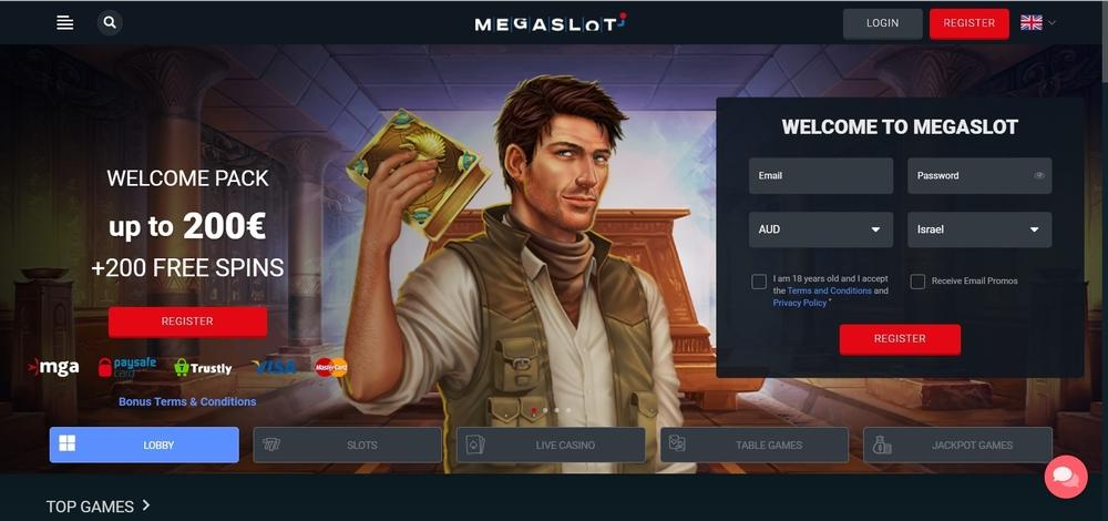 MegaSlot Casino Website